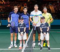 Rotterdam, The Netherlands, 15 Februari 2020, ABNAMRO World Tennis Tournament, Ahoy,<br /> Men's Doubles Final: Pierre-Hugues Herbert (FRA) and Nicolas Mahut (FRA) (L) vs Henri Kontinen (FIN) and Jan-Lennard Struff (GER).<br /> Photo: www.tennisimages.com