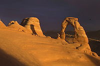 Delicate Arch at sunset, Arches National Park, Utah, USA