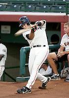 Buster Posey / AZL Giants playing against the Rangers at Scottsdale Stadium in his professional debut - 08/22/2008..Photo by:  Bill Mitchell/Four Seam Images
