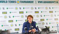 Rotterdam, Netherlands, 11 februari, 2018, Ahoy, Tennis, ABNAMROWTT, Pressconference with Alexander Zverev (DUI)<br /> Photo: Henk Koster/tennisimages.com