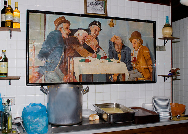 Interior, Kitchen, Da Nerbone Restaurant, Florence, Tuscany, Italy