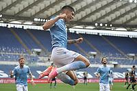 Joaquin Correa of SS Lazio celebrates after scoring the goal of 1-0 during the Serie A football match between SS Lazio and Genoa at Olimpico Stadium in Roma (Italy), May 2th, 2021. Photo Antonietta Baldassarre / Insidefoto