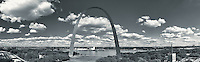 St. Louis City riverfront panorama looking east
