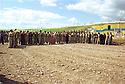 Iraq 1998.Celebration of Nowruz near Salaheddin, men and women dancing.Irak 1998.Fete de Nowruz pres de Salaheddin, hommes et femmes dansant