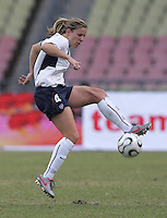 January 26, 2007:  The USWNT and Germany tied, 0-0. Cat Whitehill