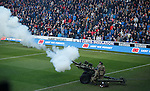 Army gun fres to start the minutes silence at Ibrox