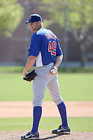 Chris Huseby, Chicago Cubs minor league spring training..Photo by:  Bill Mitchell/Four Seam Images.