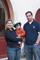 Isabelle Doudet and family owner domaine doudet naudin savigny-les-beaune cote de beaune burgundy france