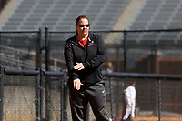 GREENSBORO, NC - FEBRUARY 22: Head coach Julie Brzezinski of Fairfield University signals to her batter during a game between Fairfield and North Carolina at UNCG Softball Stadium on February 22, 2020 in Greensboro, North Carolina.