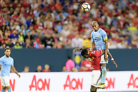Houston, TX - Thursday July 20, 2017: Fernandinho during a match between Manchester United and Manchester City in the 2017 International Champions Cup at NRG Stadium.