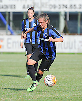 20160827 - AALTER , BELGIUM : Brugge's Larissa Van Hulle pictured during the soccer match  in the 2nd round of the  Belgian cup 2017 , a soccer women game between Club Brugge and Football Club Bercheux   ,  Aalter , saturday 27 th August 2016 . PHOTO SPORTPIX.BE / DIRK VUYLSTEKE