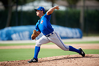 Toronto Blue Jays pitcher Brody Rodning (41) delivers a pitch during an Instructional League game against the Pittsburgh Pirates on October 14, 2017 at the Englebert Complex in Dunedin, Florida.  (Mike Janes/Four Seam Images)