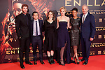 "Australian actor Liam Hemsworth and the US actors Jennifer Lawrence and Josh Hutcherson pose for photographers as they arrive to the premiere of their movie ""The Hunger Games: Catching Fire"" at Callao Cinema in Madrid, Spain.. November 13, 2013. (ALTERPHOTOS/Victor Blanco)"