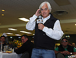 Bob Baffert talks about the chances of Bodemeister in the Preakness at the Alibi Breakfast at Pimlico Race Course in Baltimore, Maryland  on May 17, 2012