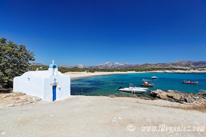 Agios Georgios of Alyko Peninsula in Naxos island, Greece