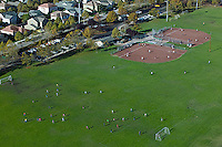 aerial photograph baseball diamonds Petaluma, Sonoma county, California
