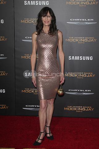 "LOS ANGELES, CA - NOVEMBER 16: Eugenie Bondurant at the Premiere Of ""The Hunger Games: Mockingjay - Part 2"" At Microsoft Theater On November 16, 2015. Credit: mpi21/MediaPunch"