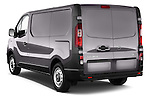 Angular Rear Three Quarter View of 2015 Opel Vivaro Edition 4 Door Cargo Van 2WD Stock Photo
