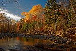 Fall view of the East Branch of the Swift River, Byron, Maine, USA