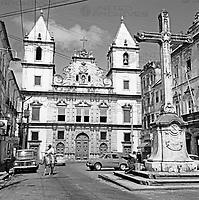 Die Igreja da Ordem Terceira de Sao Francisco in Salvador, Brasilien 1960er Jahre. The Igreja da Ordem Terceira de Sao Francisco in Salvador, Brazil 1960s.
