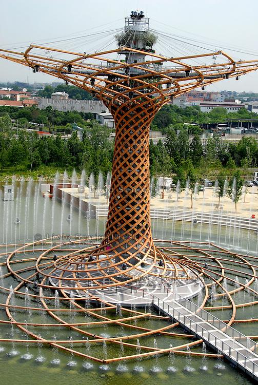 Veduta dalla terrazza del Padiglione Italia dell'albero della vita.<br /> View from the terrace of the Italian Pavilion of the tree of life.