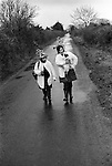Biddy Boys Killorglin Co Kerry Eire Southern Ireland. 1972. February 2nd celebration of the Celtic Saint Brigid.