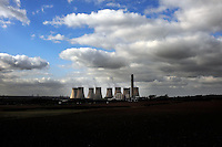 Ratcliffe on Soar coal fired power station, near Nottingham, is the third largest emitter of greenhouse gases in the UK. It is owned by E.ON.