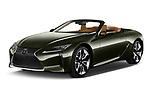 2021 Lexus LC-Convertible 500 2 Door Convertible Angular Front automotive stock photos of front three quarter view