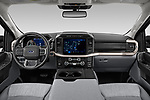 Stock photo of straight dashboard view of 2021 Ford F-150 XLT 4 Door Pick-up Dashboard