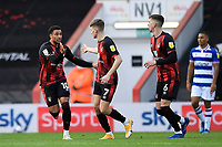 Arnaut Danjuma of AFC Bournemouth left celebrates scoring the second goal with David Brooks of AFC Bournemouth during AFC Bournemouth vs Reading, Sky Bet EFL Championship Football at the Vitality Stadium on 21st November 2020