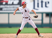Stoneman Douglas Eagles Gavin Conticello (11) throws to first base during the 42nd Annual FACA All-Star Baseball Classic on June 6, 2021 at Joker Marchant Stadium in Lakeland, Florida.  (Mike Janes/Four Seam Images)