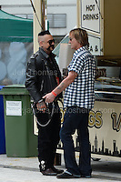 Some members of the bands relax during the Merthyr Rising Festival 2016 in Merthyr Tydfil on Saturday June 4th and Sunday June 5th 2016. <br /> <br /> <br /> Jeff Thomas Photography -  www.jaypics.photoshelter.com - <br /> e-mail swansea1001@hotmail.co.uk -<br /> Mob: 07837 386244 -