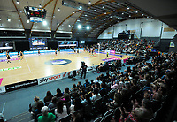A general view of the Cadbury Netball Series match between NZ Silver Ferns and NZ Men at the Fly Palmy Arena in Palmerston North, New Zealand on Thursday, 22 October 2020. Photo: Dave Lintott / lintottphoto.co.nz