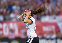 Erika Tymrak (23) of the USWNT celebrates her goal during an international friendly at the Florida Citrus Bowl in Orlando, FL.  The USWNT defeated Brazil, 4-1.