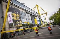 16th May 2020, Signal Iduna Park, Dortmund, Germany; Bundesliga football, Borussia Dortmund versus FC Schalke;   Closed entrances of Signal Iduna Park are guarded by security guards