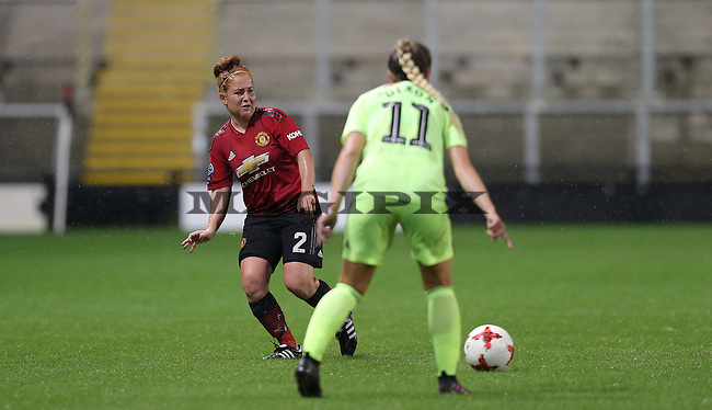 Martha Harris of Manchester United Women and Chloe Dixon of Sheffield Utd Women