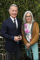William Leymergie and wife Marylin seen at 'Le Village de Roland Garros' during Roland Garros tennis open 2016 on may 26 2016.
