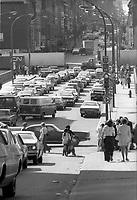 ARCHIVE -<br /> <br /> Arret des transports en commun durant un Conflit a la CTCUM, 27 Juin 1974<br /> <br /> Photo : Agence Quebec Presse  - Alain Renaud