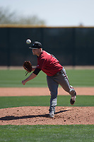 Arizona Diamondbacks relief pitcher Gabe Speier (15) follows through on his delivery during a Minor League Spring Training intrasquad game at Salt River Fields at Talking Stick on March 12, 2018 in Scottsdale, Arizona. (Zachary Lucy/Four Seam Images)