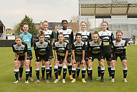 team of Eendracht Aalst with Goalkeeper Silke Baccarne (1) of Eendracht Aalst   Loes Van Mullem (33) of Eendracht Aalst   Henriette Awete (19) of Eendracht Aalst   Tiana Andries (11) of Eendracht Aalst   Valentine Hannecart 8) of Eendrcht Aalst   Niekie Pellens (41) of Eendracht Aalst   Justine Blave (22) of Eendracht Aalst   Anke Vanhooren (7) of Eendracht Aalst   Megane Lerinckx (13) of Eendracht Aalsy   Tiffanie Vanderdonckt (5) of Eendracht Aalst   Chloe Van Mingeroet (17) of Eendracht Aalst   pictured during a female soccer game between Eendracht Aalst and SV Zulte Waregem on the fourth matchday of play off 2 of the 2020 - 2021 season of Belgian Scooore Womens Super League , Saturday 1 st of May 2021  in Aalst , Belgium . PHOTO SPORTPIX.BE | SPP | DIRK VUYLSTEKE