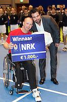 17-12-11, Netherlands, Rotterdam, Topsportcentrum, Winnaar Ronald Vink met toernooi directeur Raemon Sluiter
