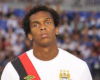 Jo Silva #27 of Manchester City during an international friendly match against Inter Milan on July 31 2010 at M&T Bank Stadium in Baltimore, Maryland. Milan won 3-0.
