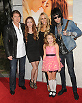 Billy Ray Cyrus,Brandi Cyrus,Tish Cyrus,Noah Cyrus & Trace Cyrus at the Touchstone Pictures' World Premiere of The Last Song held at The Arclight  in Hollywood, California on March 25,2010                                                                   Copyright 2010  DVS / RockinExposures