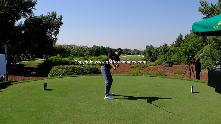 Charl Schwartzel (RSA) during round two of the 2016 DP World Tour Championships played over the Earth Course at Jumeirah Golf Estates, Dubai, UAE: Picture Stuart Adams, www.golftourimages.com: 11/18/16