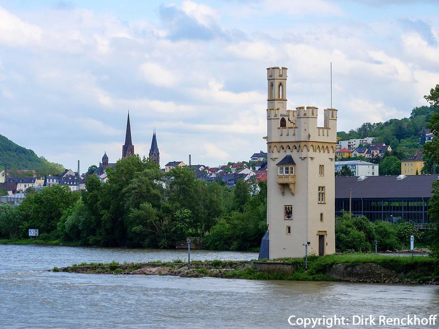 Mäuseturm in Bingen, Rheinland-Pfalz, Deutschland, Europa, UNESCO-Weltkulturerbe<br /> mice-toer in Bingen, Rhineland-Palatinate, Germany, Europe