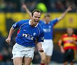 Rangers v Partick Th Scottish Cup SF 24.3.02: German midfielder Christian Nerlinger scores for Rangers.