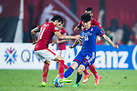 Guangzhou Forward Ricardo Goulart (L) in action against Suwon Midfielder Lee Jong Sung (R) during the AFC Champions League 2017 Group G match between Guangzhou Evergrande FC (CHN) vs Suwon Samsung Bluewings (KOR) at the Tianhe Stadium on 09 May 2017 in Guangzhou, China. Photo by Yu Chun Christopher Wong / Power Sport Images