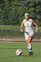 NEWTON, MA - AUGUST 29: Gaby Carreiro #7 of Boston College brings the ball forward during a game between Boston University and Boston College at Newton Campus Field on August 29, 2019 in Newton, Massachusetts.