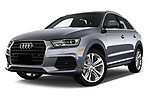 Stock pictures of low aggressive front three quarter view of 2018 Audi Q3  2.0T-FWD-tiptronic-Premium-Plus  5 Door SUV