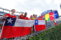 Action photo during the match Chile vs Bolivia at Gillette Stadium Copa America Centenario 2016. ---Foto  de accion durante el partido Chile vs Bolivia, En el Estadio Gillette, Partido Correspondiante al Grupo - D -  de la Copa America Centenario USA 2016, en la foto: Fans<br /> <br /> --- 10/06/2016/MEXSPORT/PHOTOSPORT/ Andres Pina